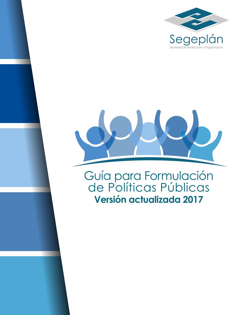 Guía para formulación de Políticas Públicas